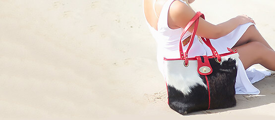 cowhide handbag 1
